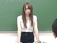 Japanese Teacher Enjoys A Bukkake At Her Work Place