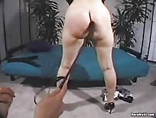 masked wrestling girl fucking with strap on