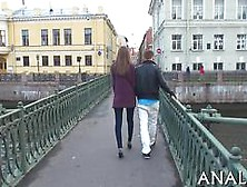 Skinny Tall Teen Goes For A Stroll And Gets Fucked