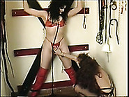 Dominant Ugly As Hell Bitch Slaps Crucified Submissive Brunette