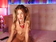 Www. Hottiecam. Tk | Hot Blonde Teen Riding Her Dildo