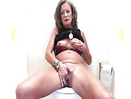 Big Black Nigger Cock For Dirty Mature Aunt In The Bathroom