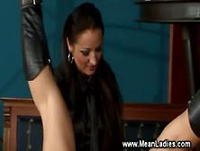 Domina Instructing Her Sissy Servant