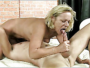 Masked Man Eats Out Her Wet Granny Pussy