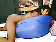 Chubby Dark Skinned Bitch Got Her Hairy Kitty Fucked From Behind