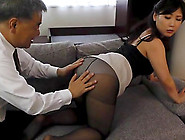 Mature Fella Kissing Younger Beauty Fujishita Rika And Boning He