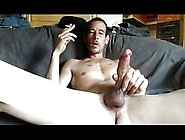 Naughty Stud Smoking While Wanking