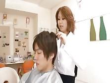 Rin Kajika Is A Busty Hair Stylist