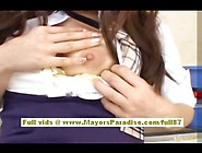 Miyu Hoshino Chinese Girl In School Uniform Rubs Her Wet Pussy S