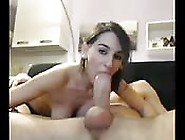 Skinny Girl Devouring A Big Cock On Camera