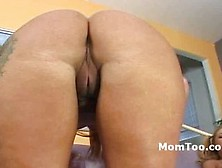 Big Ass Hairy Mother Masturbates Watching Teen Pussy Licked