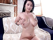 Katrina Has Massive Boobs And Pierced Nipples.  She Gets On The C