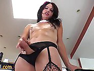 Solo Stockings Shemale Jerks