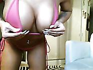 Wonderful Super Sexy Web Cam Milf Was Posing In Her Pink Stuff