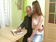 Charming Teen Naomi Having Sex With An Old Grandpa At First Time