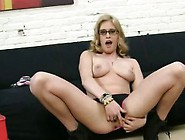 Blonde Spreads Her Ass Wide