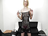 Czech Blonde Bitch Masturbating