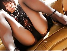 Asian Pantyhose Tease With Bondage