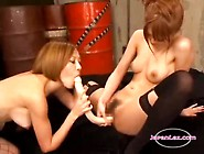 2 Asian Girls In Stockings Fucking Their Pussies With Toys By Il