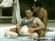 Foreplay In Pool Leads To Breathtaking Sex With Busty Pregnant L