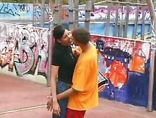 Hot Basketball Girl Kissing And Giving A Blow Job And Fucking Ha