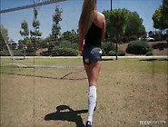 Teen Soccer Player Fucks Her Coaches Big White Cock