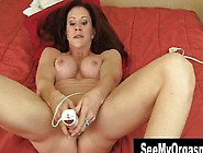 Busty Brunette Catherine Orgasm