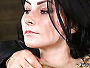 Tattooed Nude Brunette Is Tied Up And Punished In The Torture Ro