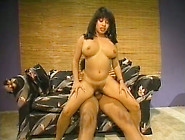 Boobalicious Black Whore Riding Dick On Top In Retro Fuck Video