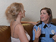 Sexy Female Police Officer Seduced By A Lesbian Housewife