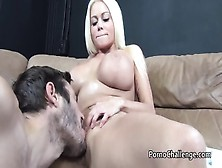 Huge Boobed Nikita Von James Gets Cum On Tits After Bj And Titjo