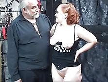 Redhead Slut Kirsten Sucks Her Master's Cock Then Gets Fuck