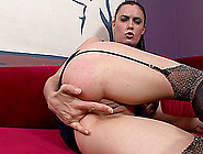 She Fingers Her Pussy While Using Her Free Hand To Finger Her As
