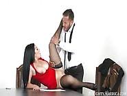 Katrina Jade With Naked Downblouse Enjoys The Dirty Fuck Session