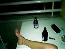 Wife Masturbate Then We Fuck On Hotel Balcony