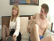 Young Guy Is Masturbating,  His Aunt Gets Excited And Decides To