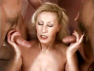 Older Titmom Gets Two Cocks As Present