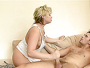 Short Haired Blonde Swallows Cum After Getting Her Anal Spooked