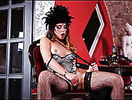 Sizzling Brunette In Stockings Digs Her Wet Pussy With Playful F