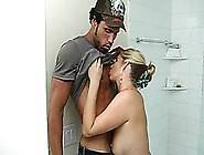 Blonde Mom Takes A Hot Shower And Teen Cock