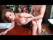 Big Ass Momma Bent Over A Desk And Pounded