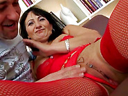 Busty Mature With A Pierced Pussy Takes On A Much Younger Cock