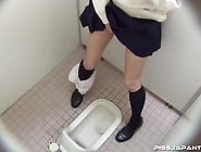 Japanese Girl Pissing And Rubbing In The Toilet