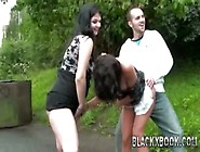 Risky Public Sex Pregnant Two Girl Threesome-