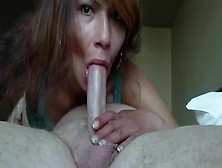 Wife Sucks Husbands Dick Until He Cums In Her Mouth