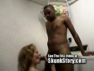 Mature Big Titty Blonde Fucks Skunk In The Laundry Room
