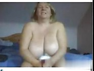 Big Tits Blonde Mature Rubbing Her Fat Pussy Solo On Webcam