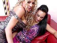 Lovely Women Cindy Behr And Eva May Play With Their Toys