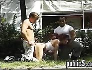 Doing A Gang Bang Outdoors In Public