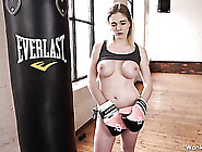 Naked Boxing Chick Loves To Talk Dirty To You